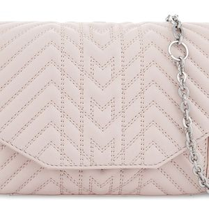 [NWT]Maje Light Pink Quilted Leather Crossbody Bag